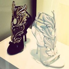 baroque styling. kanye west for guiseppe zanotti #heels #shoes
