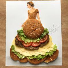"66.3k Likes, 1,052 Comments - EdgaR_ArtiS (@edgar_artis) on Instagram: ""Cheeseburger Bae  Dress recipe - bread, lettuce, tomatoes, cheese, meat.  I had so much fun…"""
