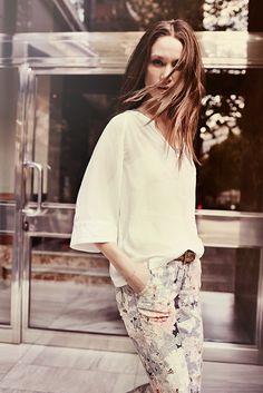Sky Lace Top / Buddy Flower Jacquard / Malaga Belt / Mos Mosh S14, boutique Loula Bee Liège