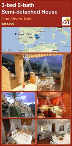 3-bed 2-bath Semi-detached House in Altea, Alicante, Spain ►€255,000 #PropertyForSaleInSpain