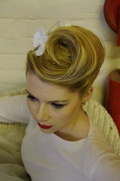 Make-Up By: Milk and Honey Vintage Bridal Make-Up Hair: Flamingo Amy