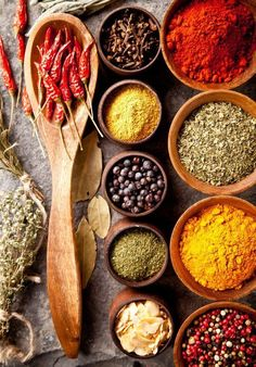 Quick guide to every herb and spice in the kitchen.