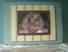 Wood Plank/Beadboard Photo Frame by BurlapandLovely on Etsy, $40.00