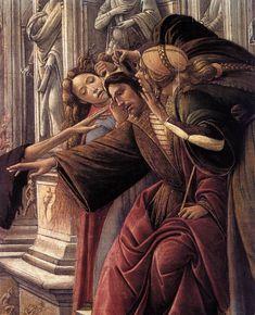 BOTTICELLI - Calunnia, dettaglio - 1494-1495 -tempera su tavola - Firenze, Galleria degli Uffizi