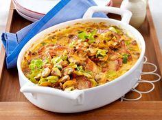 Our in style recipe for Jägerschnitzel casserole with mushroom leek cream and greater than different free recipes at LECKER. Pork Recipes, Low Carb Recipes, Cooking Recipes, Healthy Recipes, Good Food, Yummy Food, Oven Dishes, Mushroom Recipes, Popular Recipes