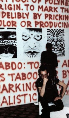 Ruth Marten working on her installation, Punk Art Exhibition, Washington DC, 1978