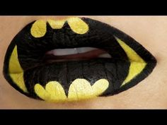 ▶ Superheroes Lip Art Tutorial: Batman - YouTube