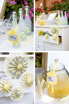 Bee Baby Shower Inspiration Lemonade Stand - Inspiracion para baby shower de abeja - La Belle Carte