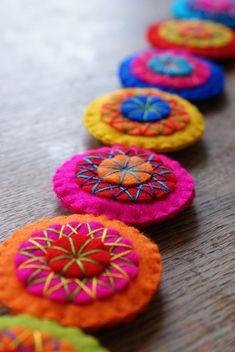 felt garland -- idea for buttons