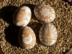 Etched Brown Eggs - No Dyes Added