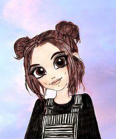 Cute Kawaii Drawings, Cool Art Drawings, Easy Drawings, Cute Girl Drawing, Cartoon Art, Cute Girls, Cute Animals, Disney Characters, Illustration