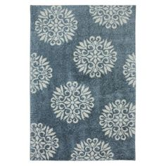 Mohawk Home Starburst Shag Area Rug - not sure about the color, but I love that it's a patterned shag rug