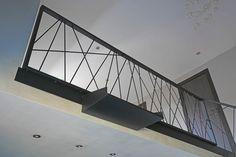 Metal Stair Railing, Balcony Railing Design, Mezzanine Bed, Steel Stairs, House Design, Interior Design, Decor, Iron Staircase, Indoor Stair Railing
