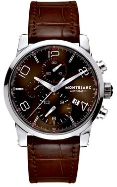 Montblanc TimeWalker Chronograph Automatic The clear-cut contours of the TimeWalker Chronograph combine traditional values with the aesthetics of the 21st century.