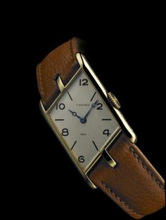The 1938 Cartier Tank Asymétrique.