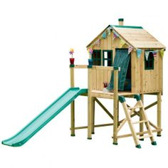 idea for the backyard fort since the trees won't handle a real tree house