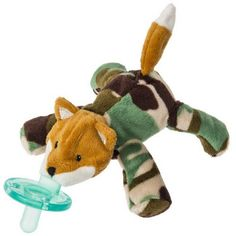 Mary Meyer Wubbanub Camo Fox Plush Pacifier Soothie Holder MSRP $16.00