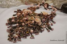 "Necklaces, handmade beads.  Order necklace ,, Abandoned garden. ""Svetlana Roloff. Masters Fair. Beaded Jewellery, roses"