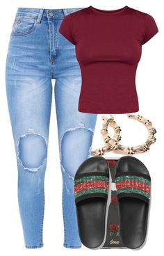 """Untitled #5659"" by rihvnnas ❤ liked on Polyvore featuring Forever 21, Sonix and NIKE"