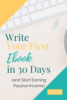 Turn your existing knowledge or experience into an ebook! In just 30 days, you can sit down and write your very first ebook and start earning passive income.