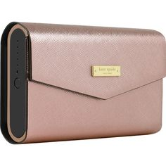kate spade new york - Portable Bluetooth Speaker - Black/Rose Gold Saffiano - Angle Zoom