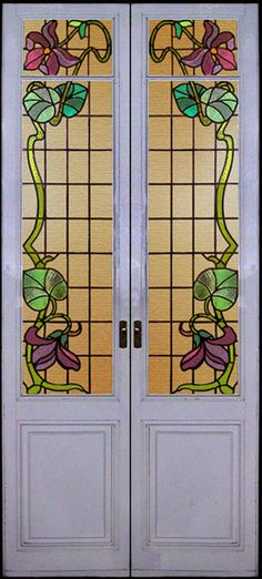 Art Nouveau Stained Glass Doors  I Want To Live In The House That These  Were Made For, Might Require Time Travel Though.