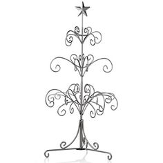 Winter Lane 12-Branch Metal Ornament Tree at HSN.com.