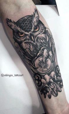 Tattoo Ideas, Tattoo Designs, Owl Tattoos, Cover Up Tattoos, Doge, Blackwork, Tattos, Tattoo Cover Ups, Owl Tat