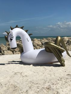 Inflatable Gold Pegasus Pool Float - The Pink Lily