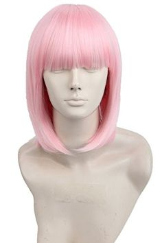 Women's Child Fiber Straight Short Bob Cosplay Wig Hallow...