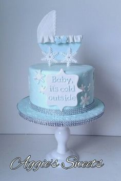 Baby, Itu0027s Cold Outside Themed Baby Shower Cake