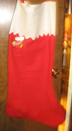 Large Christmas Red stocking with tag