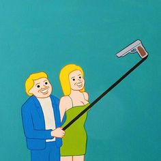 Spanish cartoonist Joan Cornellà combines black humor and extreme discomfort, most famously in his wordless, six-panel comics. Cornellà's work deals in… Background Cool, Photographie Portrait Inspiration, Creators Project, Humor Grafico, Selfie Stick, Urban Art, Comic Strips, Street Art, Art Gallery