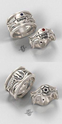 Star Wars Wedding Rings #starwars #cafepress