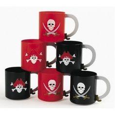 Pirate Party Mugs - 12 per unit