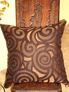 Spiral  Geometric boho toss pillow  18x18inches by SABDECO on Etsy, €21.00