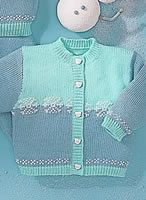 two color cardigan for a baby
