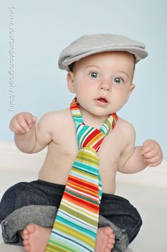 Cute Little Guy & his Necktie