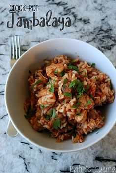 Crock Pot Jambalaya... Use 2 C chicken broth. Came out sooo good!!