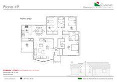 Desde Canexel ofrecemos una serie de planos gratuitamente para que cada cual pueda empezar a imaginar su casa ideal. Aquí proponemos diseños de una planta.