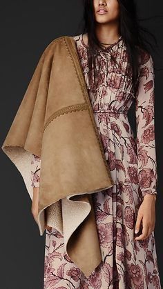 Shearling Poncho | Burberry