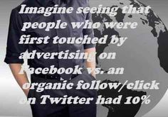 108 Famous Picture SEO Quotes from Top Marketers,image-15,Imagine seeing that people who were first touched by advertising on Facebook vs. an organic follow/click on Twitter had 10% less CLTV.