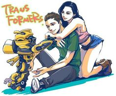 Transformers - Bumblebee, Sam and Mikaela aw cuuuttteee Transformers Memes, Transformers Bumblebee, Pokemon, Transformers Collection, Paramount Pictures, Optimus Prime, Anime Love, Manga, Robot