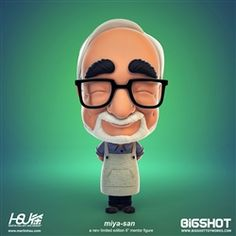 Hayao Miyazaki is a legendary Japanese director, artist and cinematic visionary. To celebrate the joy that Miyazaki has brought into our lives, Martin Hsu has teamed up with Bigshot Toyworks to create and produce a limited run of Miya-San figures.   All profits from the sale of this figure will go to Karakuwa-Maru which supports communities affected by the earthquake and tsunamis that devastated Japan.
