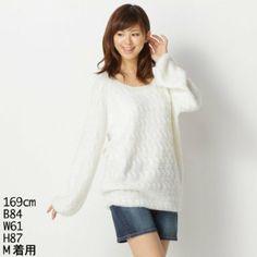 Amazon.co.jp: ラビアンジェ(LAVEANGE) ニット(チュニックニット): 服&ファッション小物