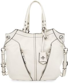 4a0a4ec94cdd Oryany Victoria Leather Tote Bag, White White Leather Handbags, Leather  Totes, Leather Purses