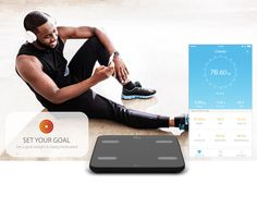Set your goal weight with PiFit Smart Scale