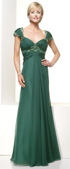 Column Green Chiffon Floor Length Straps Mother Of Bride Dresses Long Mothers Dress
