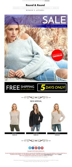 """""""Black Friday"""" Responsive Email design template - Exclusive Canvas for email marketing - editable - No html skill required - No Photoshop needed Email Template Design, Email Design, Responsive Email, Ecommerce, Email Marketing Design, No Photoshop, Newsletter Templates, Black Friday, Crochet Hats"""