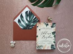 Invitatie nunta Philodendron